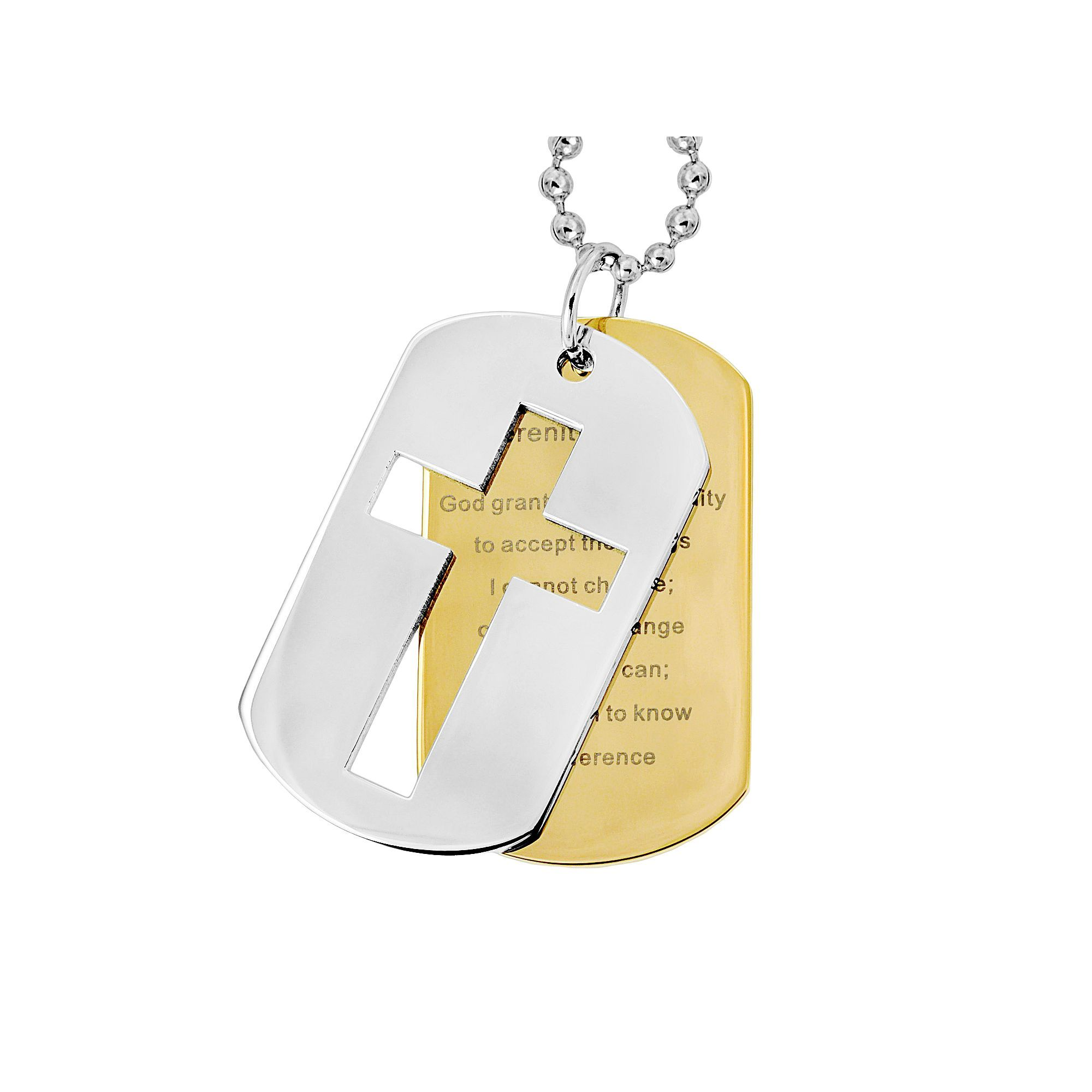inflowcomponent dog mens serenity bible technicalissues s molike verse tag steel p jewelry content res and prayer pendant stainless cross global necklace inflow