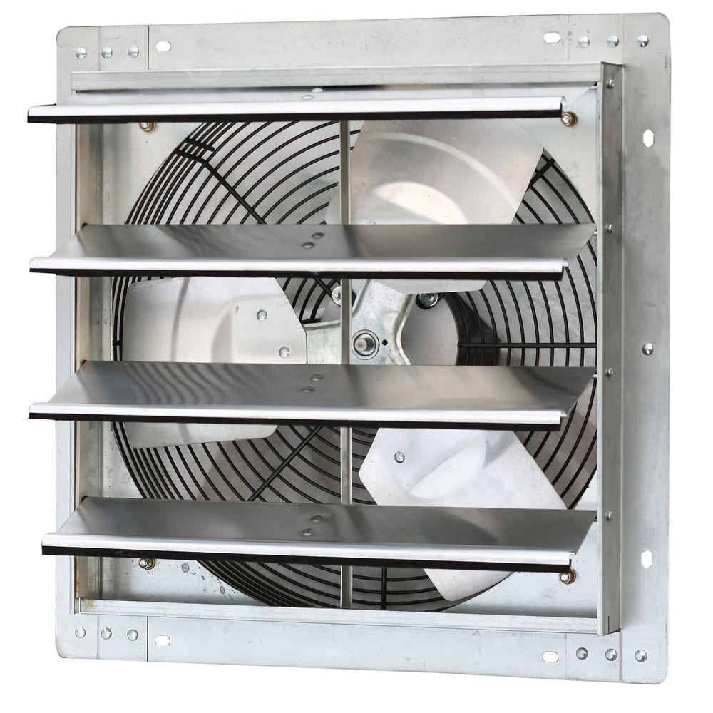 Iliving 1280 Cfm Power 16 In Variable Speed Shutter Exhaust Fan Ilg8sf16v In 2020 Wall Fans Shutter Wall Attic Fan