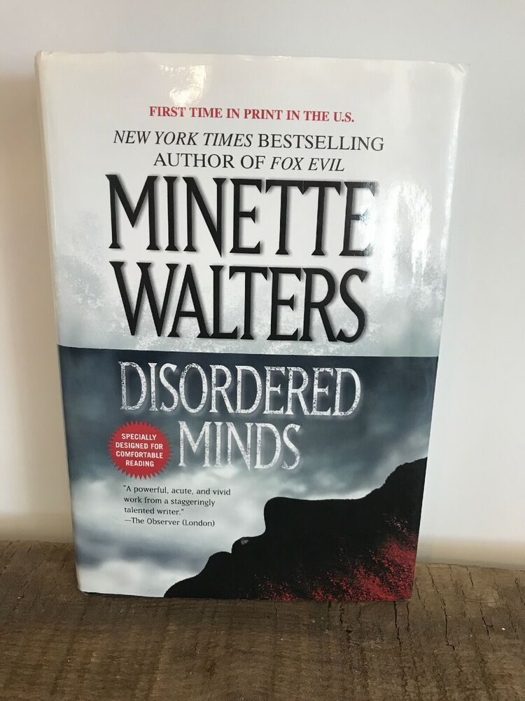 Disordered Minds By Minette Walters Hardcover With Dust Jacket Hardcover Body Of Lies Book Show