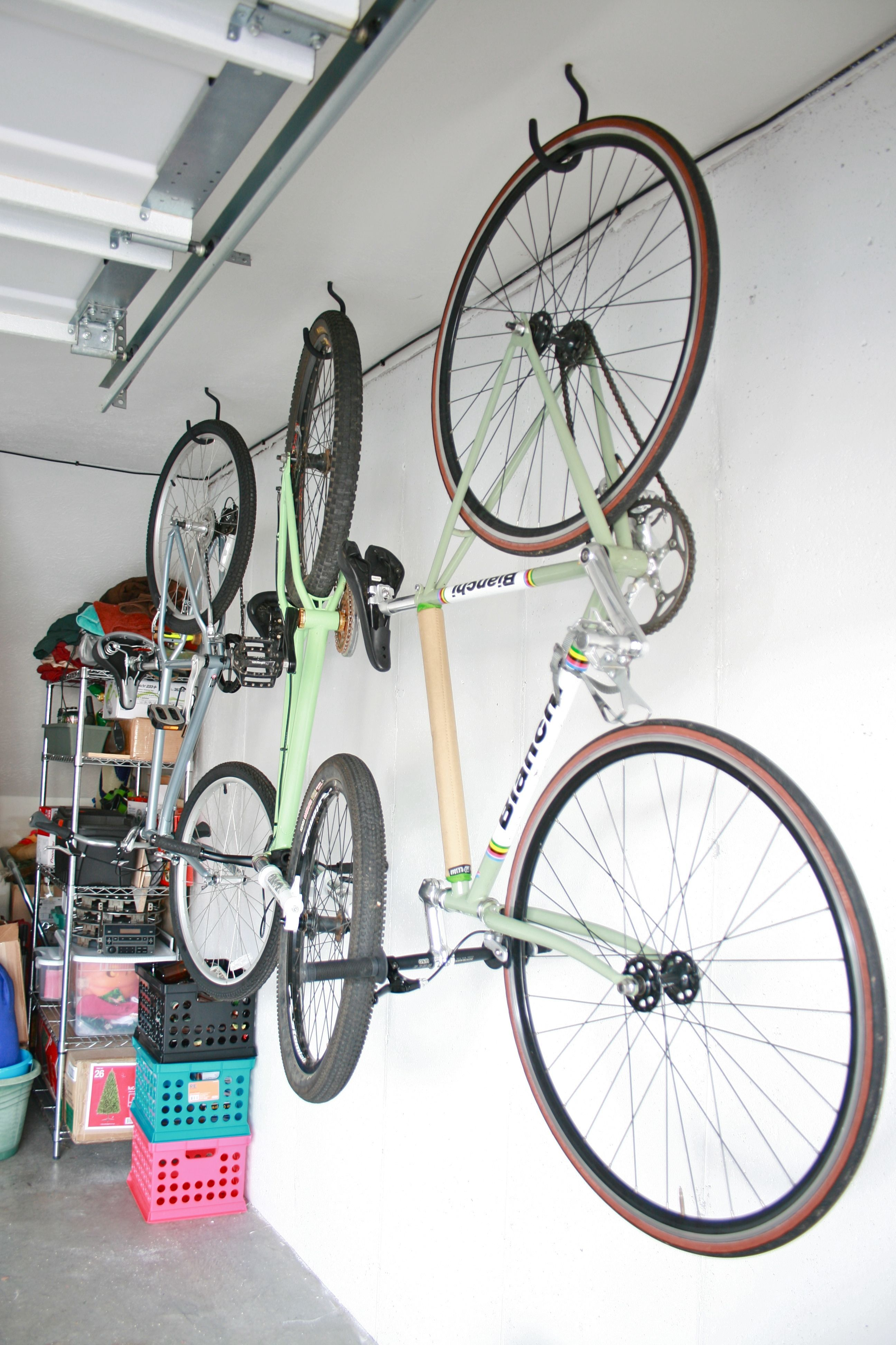 Hang Bikes In The Garage Check Bike Storage Garage Hanging Bike Rack Bike Storage Diy