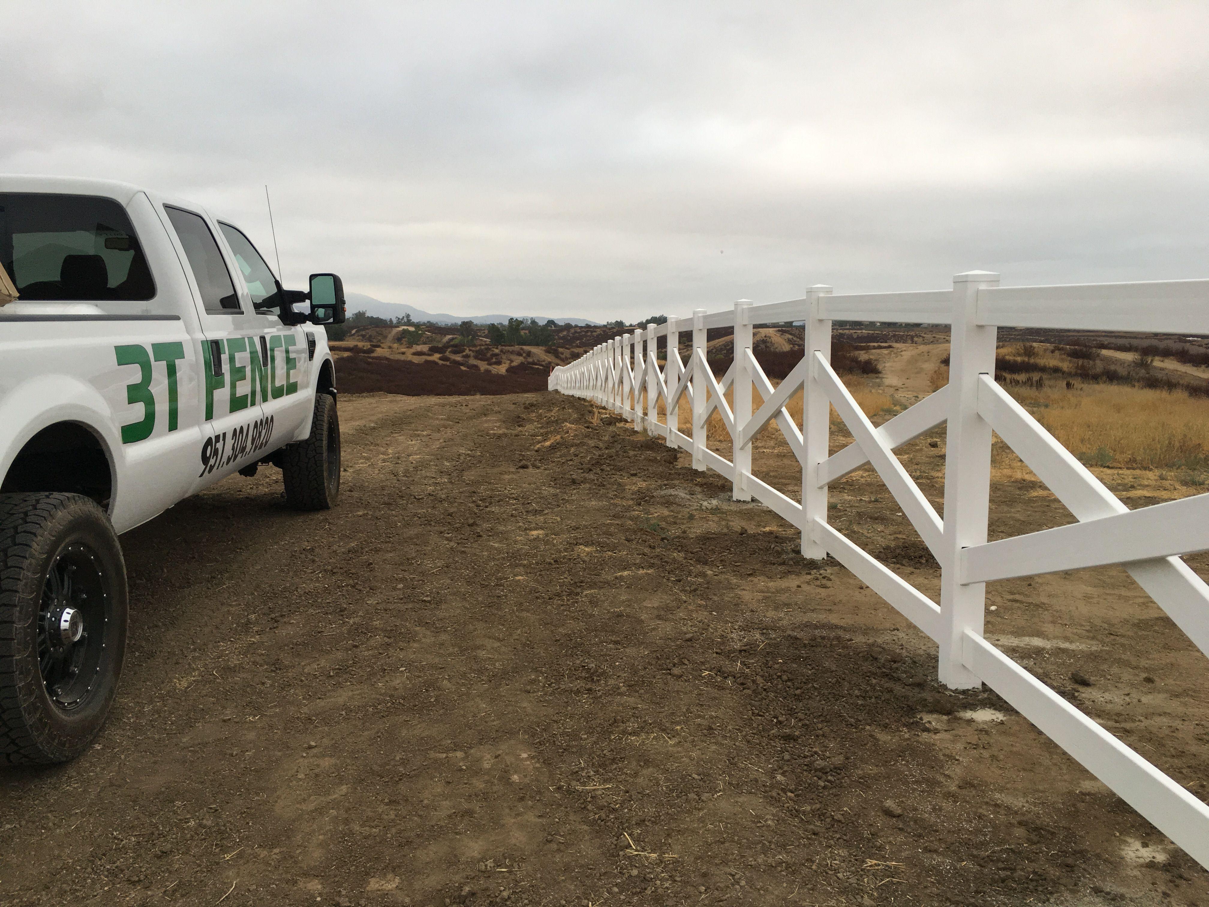 Cross Rail Vinyl Fence installed in Temecula California ...