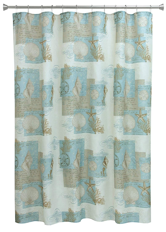 Amazon Com Bacova Guild Coastal Moonlight Fabric Shower Curtain