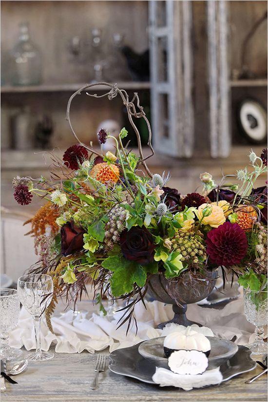 Dark Romance Wedding Ideas Fall floral arrangements, Floral - romantic halloween ideas