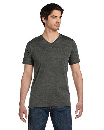 a824d30f Bella + Canvas Unisex Jersey Short Sleeve V-Neck Tee (Black Marble) (M)  Color: Black Marble Size: Medium. Model: 3005 Sale 50% only 3 days! Now  only $20.99