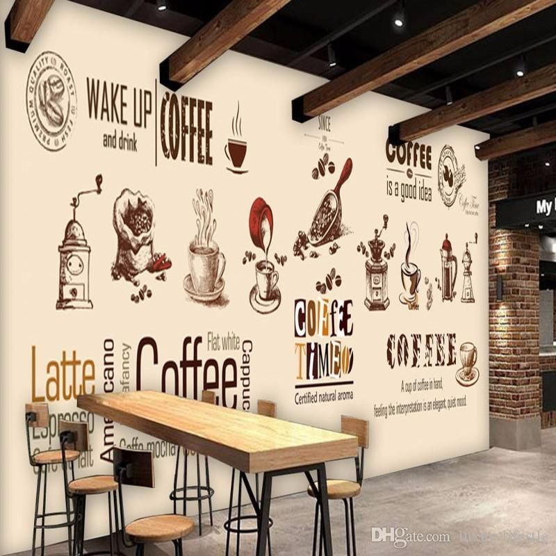 Image Result For Wall Paintings Of Coffee Cups Coffee Wall Decor Coffee Shops Interior Cafe Decor