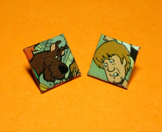 Scooby Doo Stud Earrings Comic By Nerdifacts