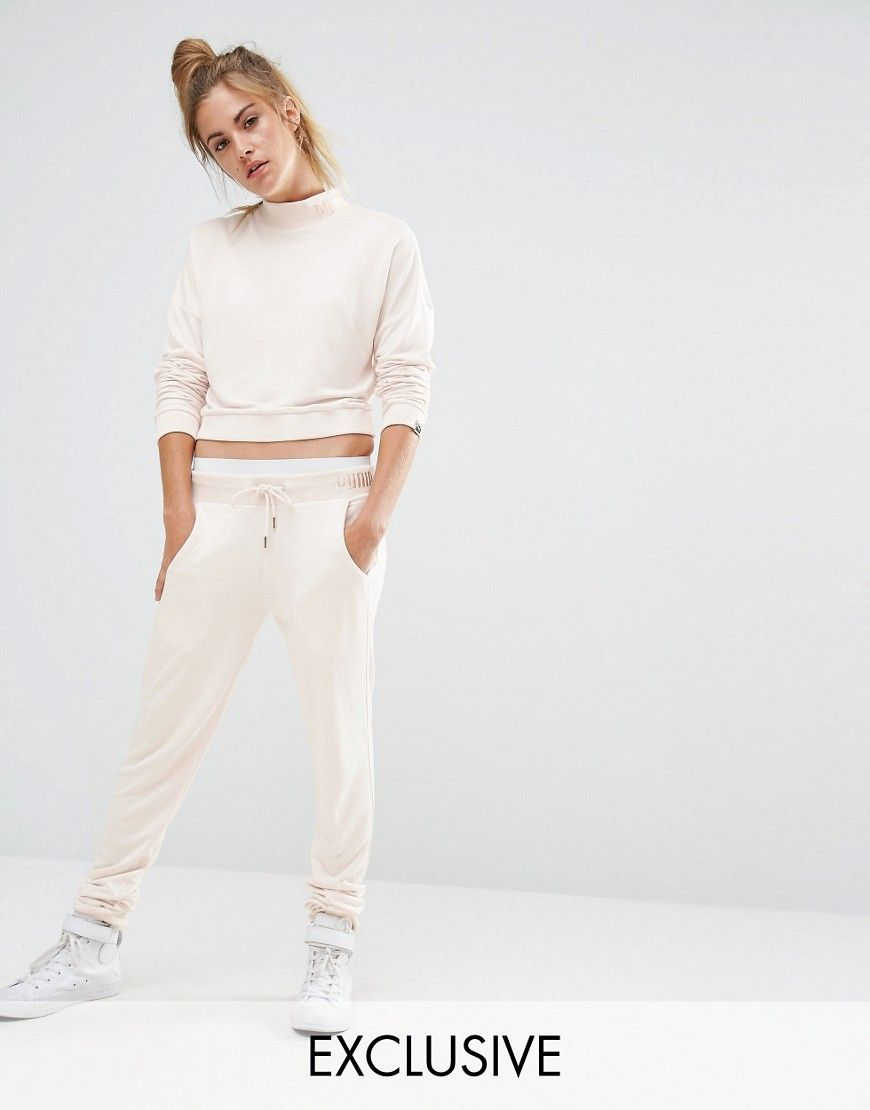 965ce8549e00 Puma+Exclusive+To+ASOS+Lounge+Pants+In+Pale+Pink