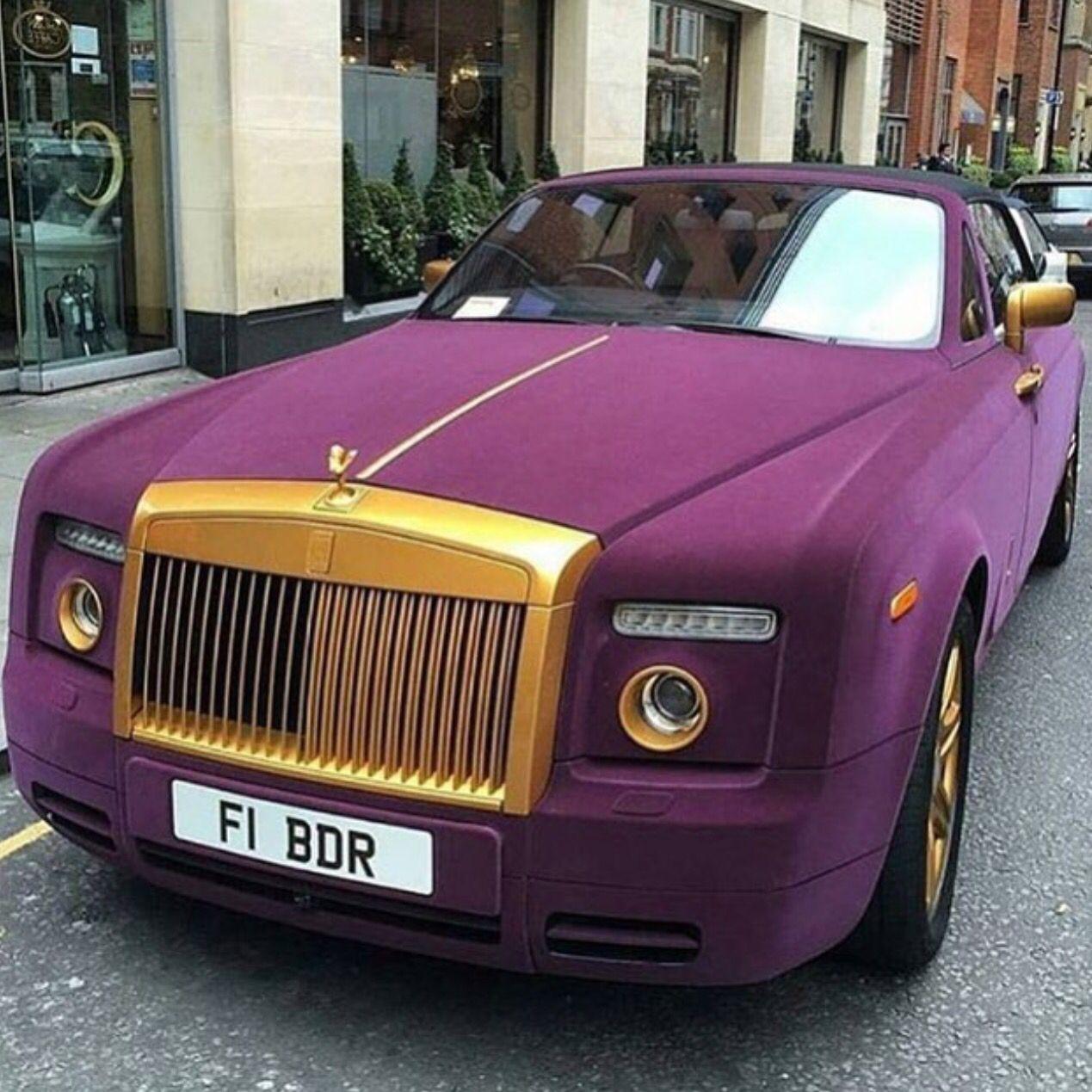 Purple Gold Rolls Royce