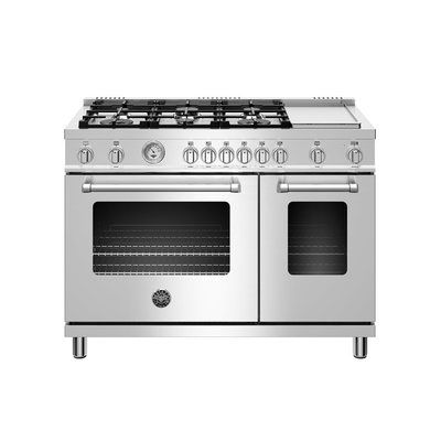 Bertazzoni Master Series 48 Free Standing Gas Range With Griddle