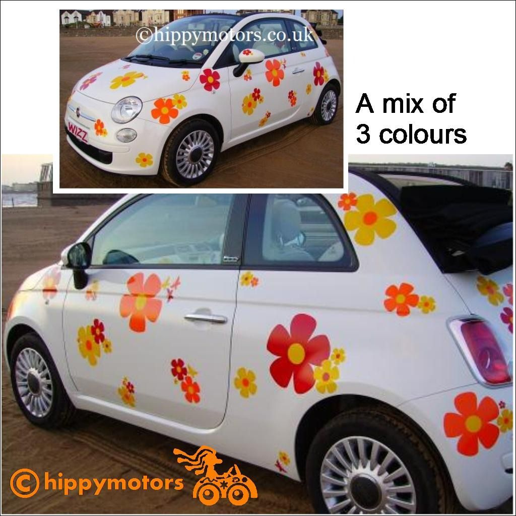 High Quality Flower Decals For Cars Funny Bumper Stickers Car Bumper Stickers Hippie Car [ 1024 x 1024 Pixel ]