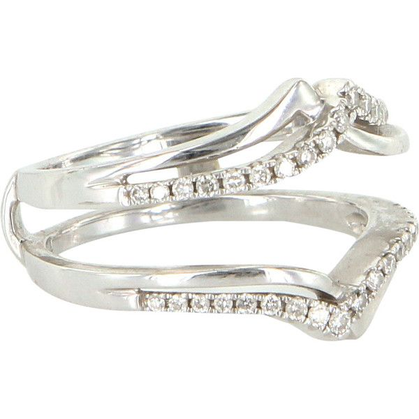 Pre Owned Wedding Ring Guard Wrap Diamond 14k White Gold  469    liked on  Polyvore featuring jewelry  rings  white gold  pre owned wedding rings   Pre Owned Wedding Ring Guard Wrap Diamond 14k White Gold  469  . Previously Owned Wedding Rings. Home Design Ideas