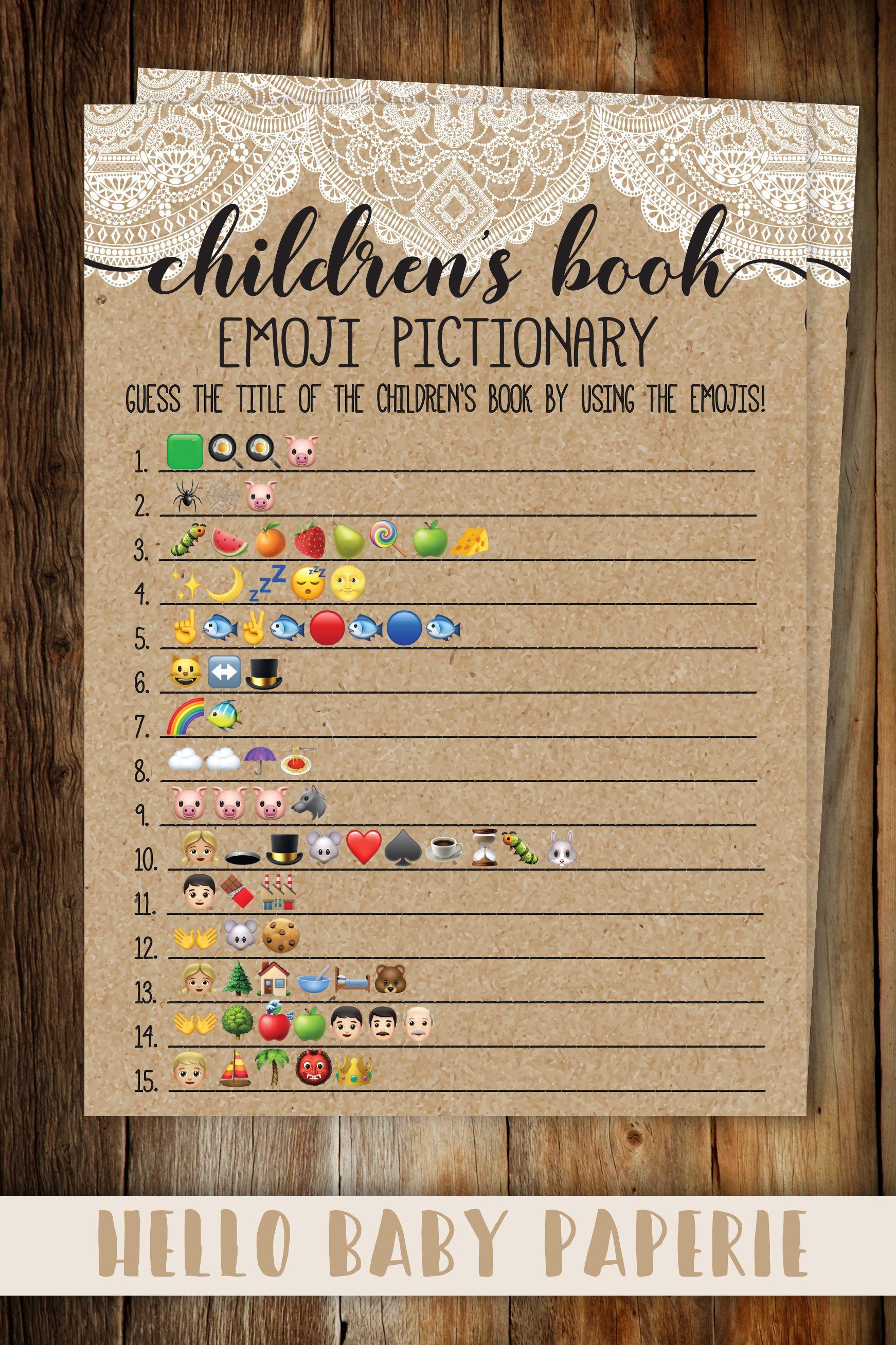 Rustic Lace Children's Book Emoji Template Harry potter