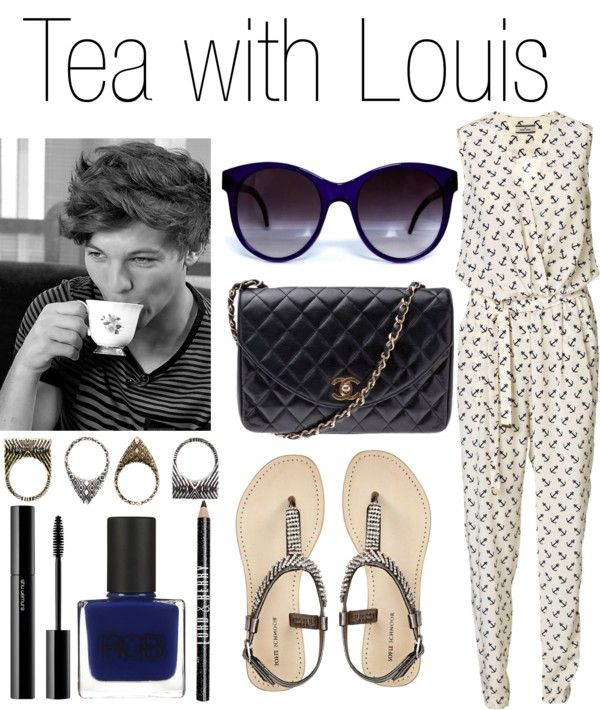 """Tea with Louis"" by praradise ❤ liked on Polyvore"