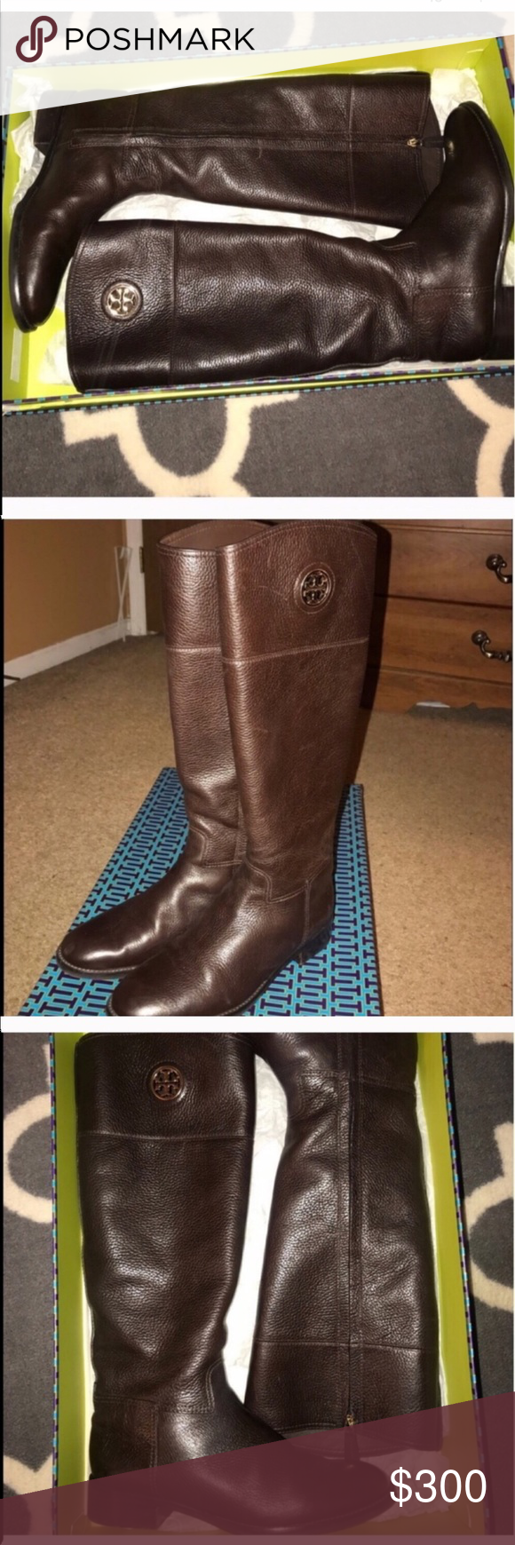 835d216f08d6 Authentic Tory Burch Boots Be ready for fall! Sz 9.5 brown leather Tory  Burch riding boots in very good condition. Purchased from Nordstrom.