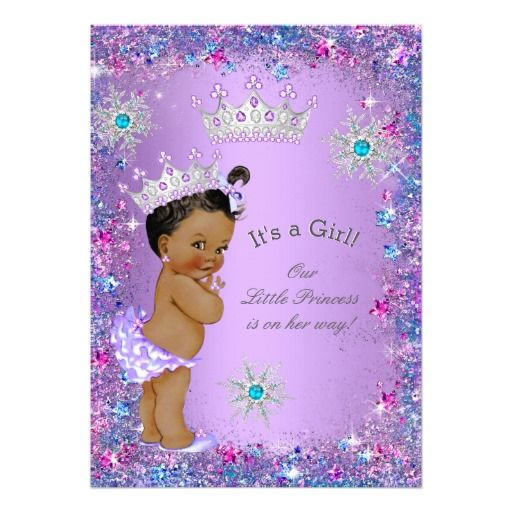 ethnic princess baby shower purple teal blue pink card | pink, Baby shower invitations