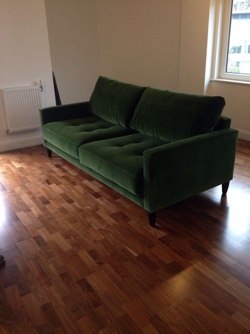 Gorgeous Green Velvet Bespoke Sofa 230 Cm   Ole   In Designers Guild Varese  F1190/