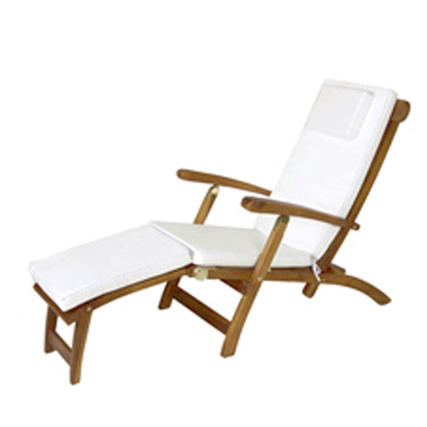 all things cedar teak steamer chair cushion products pinterest