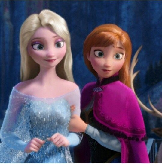 Anna And Elsa With Their Hair Down So Cute Disney Frozen Disney And Dreamworks Disney Kids