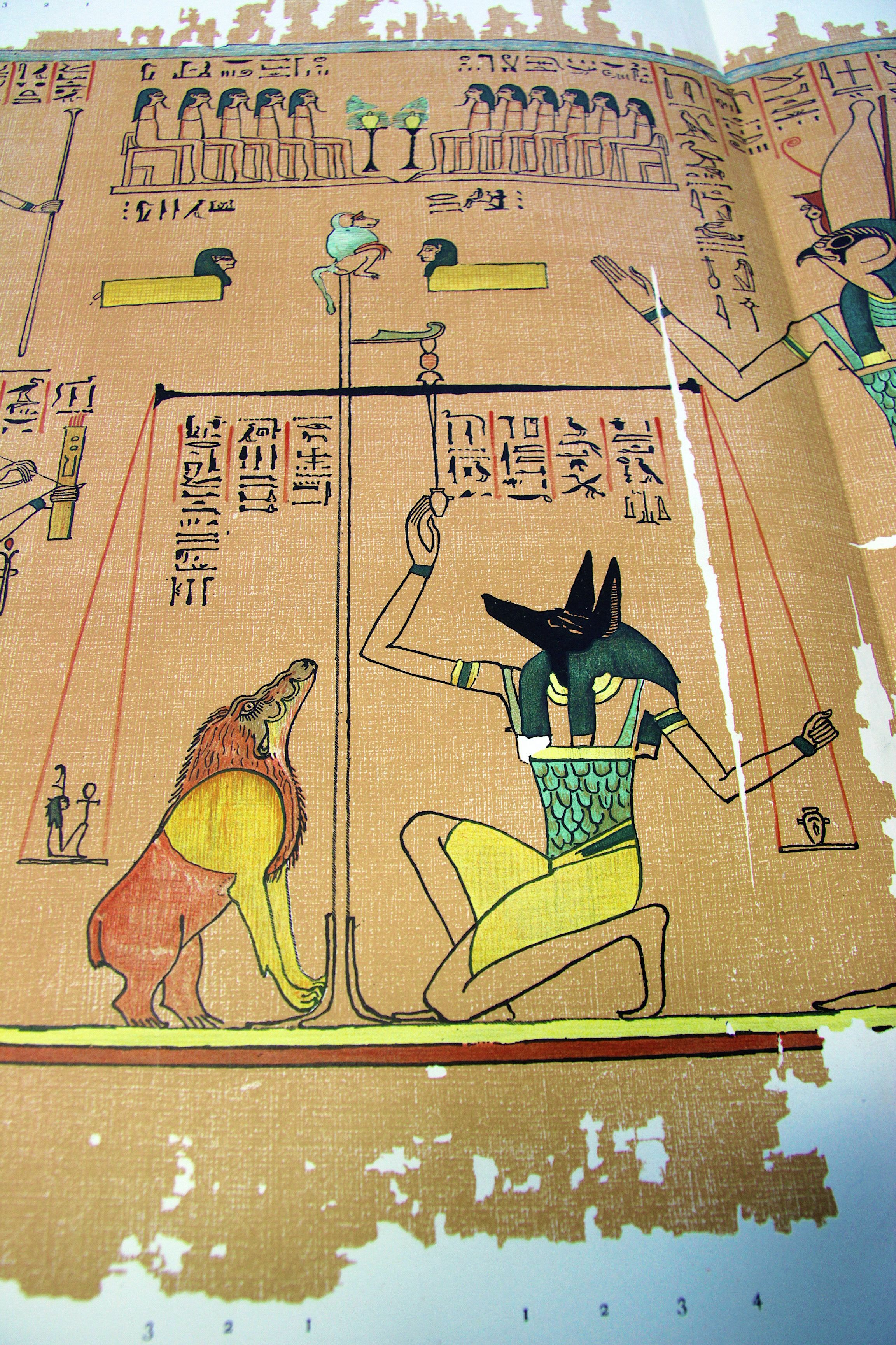 Weighing Of The Heart During The Journey Of The Dead Thoth Is