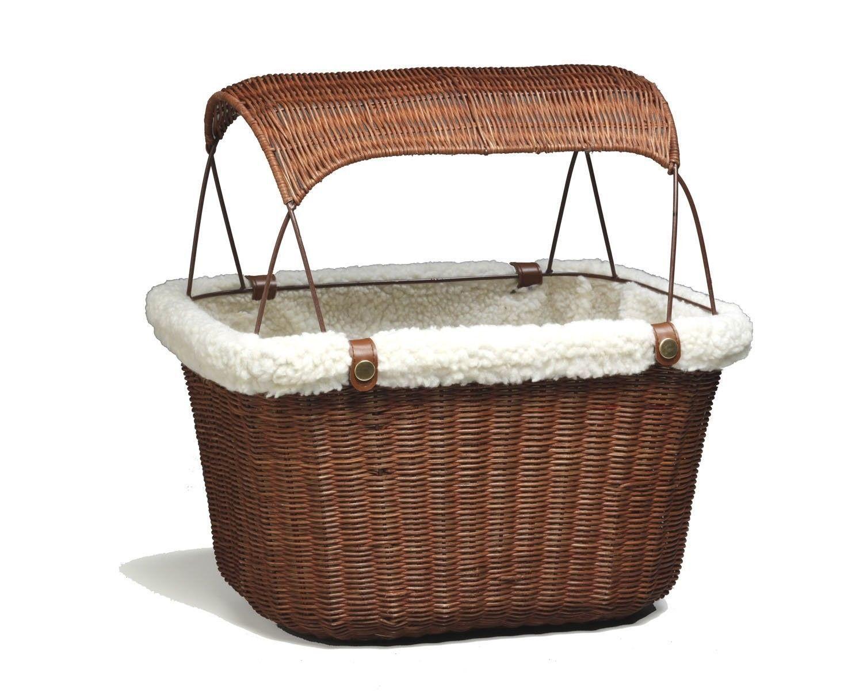 Bike baskets and trailers wicker pet bicycle basket storage