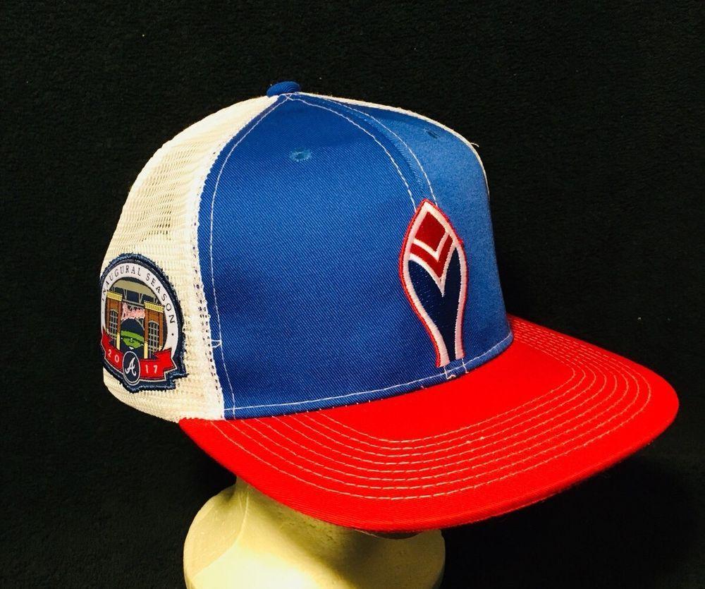 New Atlanta Braves 2017 Inaugural Season Mesh Trucker Hat Cap Suntrust Park Napa Ebay Atlanta Braves Mesh Trucker Hat Trucker Hat