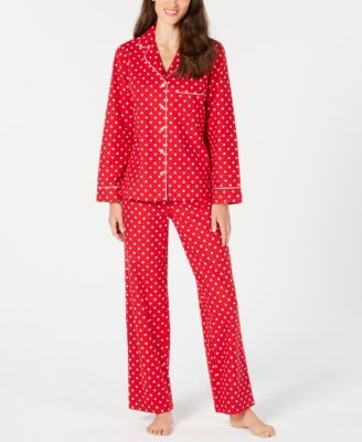 1d6a0a7f9d Charter Club Cotton Printed Flannel Pajama Set