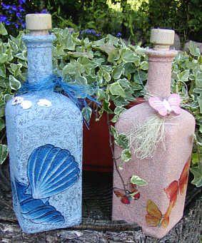 dekorierte flaschen made by bastelversand diy und selbermachen pinterest. Black Bedroom Furniture Sets. Home Design Ideas