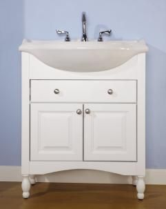 30 Inch Narrow Depth Console Bath Vanity - Custom Options ...