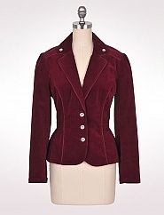 Pleated Corduroy Blazer