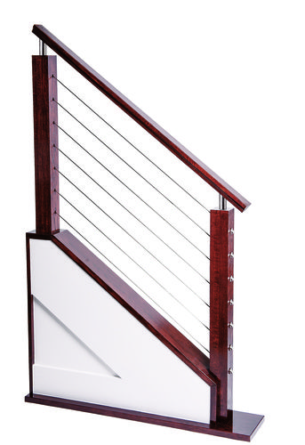 Best Red Oak 6084 Modern Handrail For Cable System Modern 640 x 480