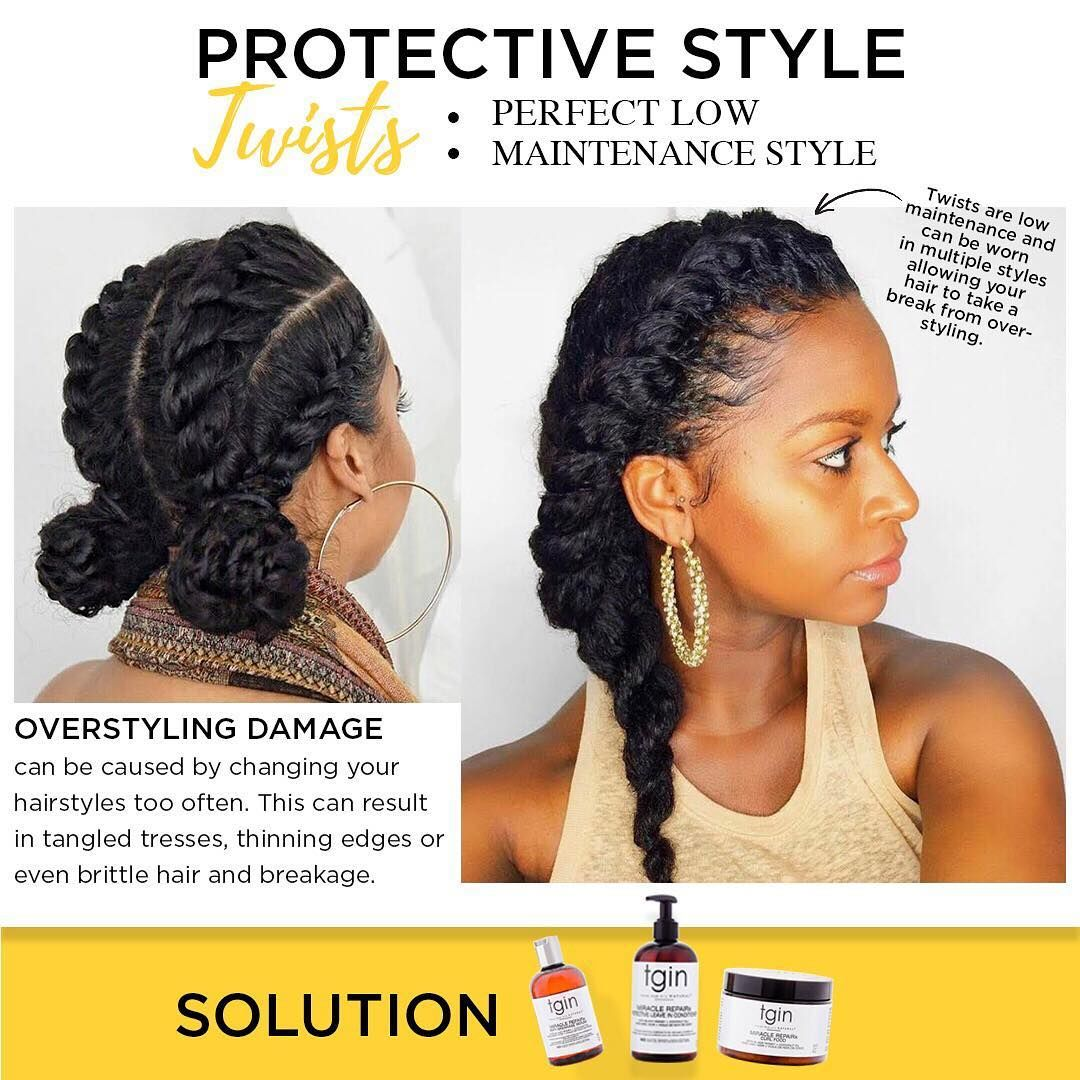Protective Styling Is Perfect When Trying To Achieve Or Maintain Healthy Hair Low Manipu Homemade Hair Treatments Natural Curls Hairstyles Natural Hair Styles
