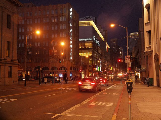 San Francisco by Night: Mission Street, via Flickr.