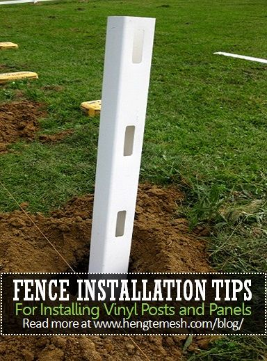 Fence Installation Tips For Installing Vinyl Posts And Panels