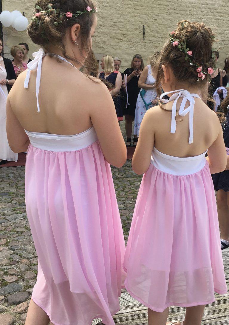 Blumenmädchenkleider Hochzeit Wedding Rosa Nähen für Kinder DIY ...