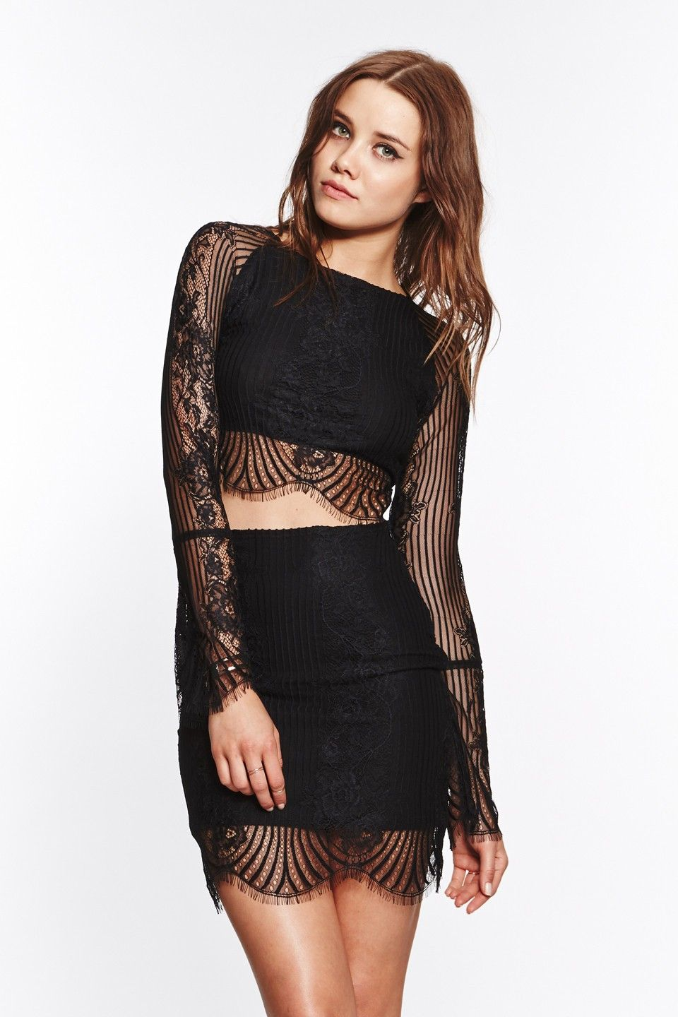 eae90cc9dd3 Lolo Crop Top Black >> new in >> for love & lemons | New In | Tops ...