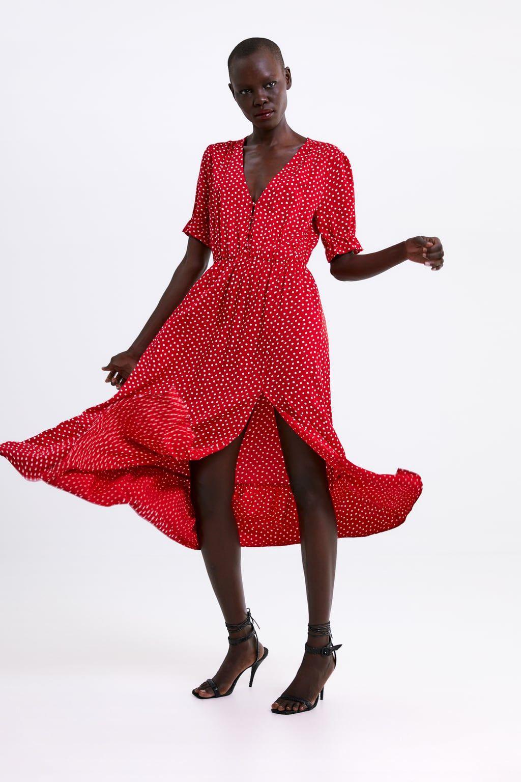 a3925fc677 Polka dot dress in 2019   Holiday   Dresses, Dot dress, Zara dresses