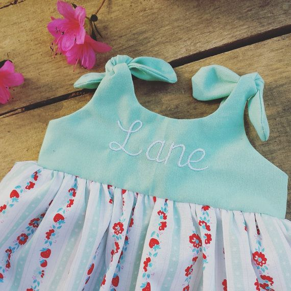 Baby dress Mint Dress girls dress coming home by ShelbyJaneandCo