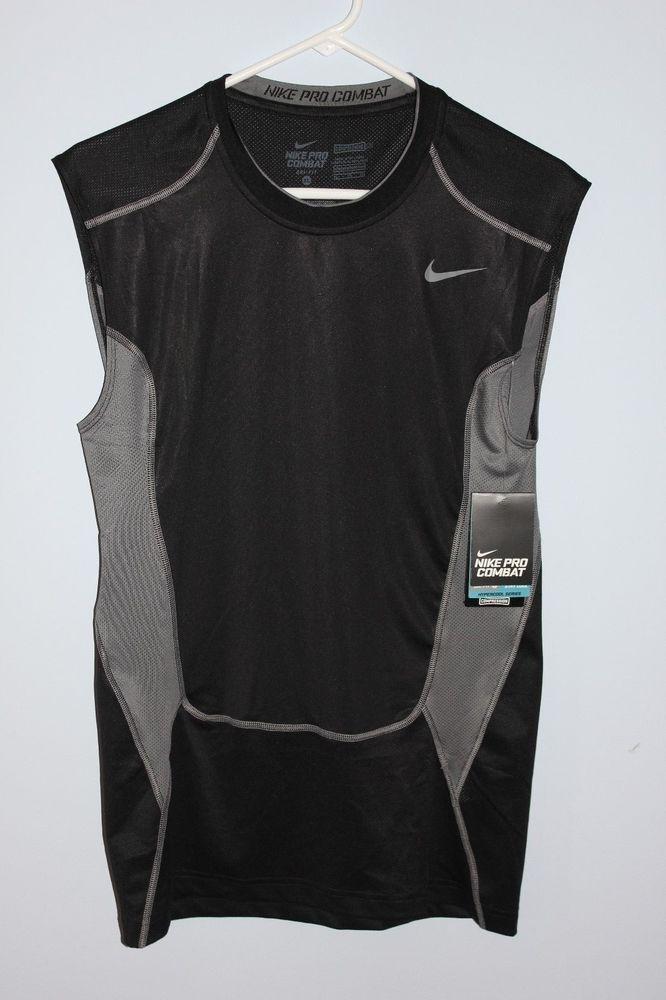 a2e1e65f7 Nike Pro Combat Compression Shirt Mens Extra Large Black Elite Sleeveless XL  NEW #Nike #BaseLayers