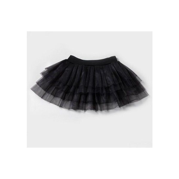 Black Tutu Claire\u0027s ($14) ❤ liked on Polyvore Lip Art - black skirt halloween costume ideas