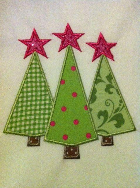 christmas tree applique design instant download by pis4poppy 300 christmas applique christmas sewing - Christmas Applique Designs