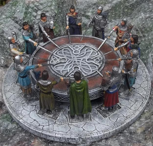 King arthur and the knights of the round table painting for 12 knights of the round table of king arthur