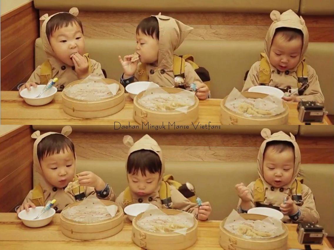 Ae-gi goms (baby bears) Daehan, Minguk, Manse eating broadcast | The Return of Superman