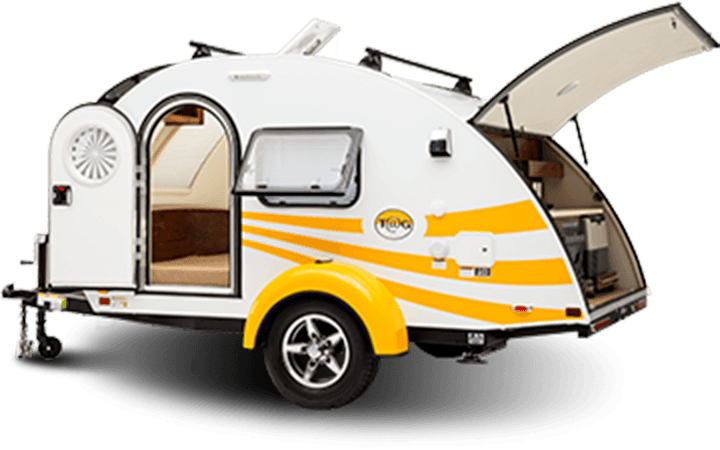 Challenger Door provides custom-built teardrop trailer doors
