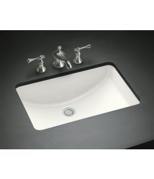 Kohler Ladena Undercounter Sink White Trendy Bathroom Bathroom