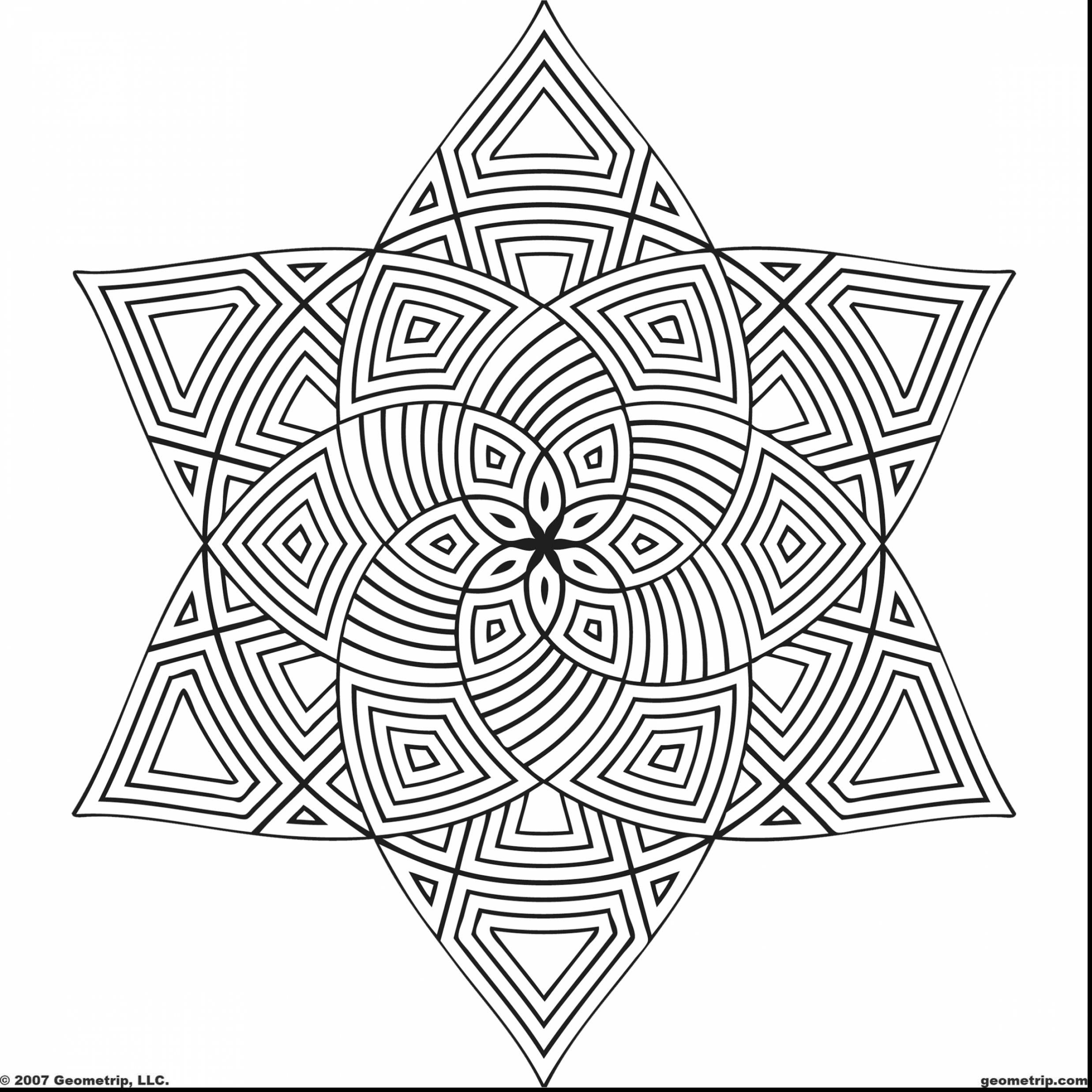 Unusual Ideas Free Geometric Coloring Pages Beautiful Activities