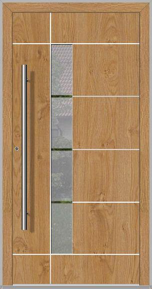 LIM Bandera – contemporary aluminum front door