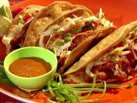 Get Throwdown's Fish Tacos Recipe from Food Network