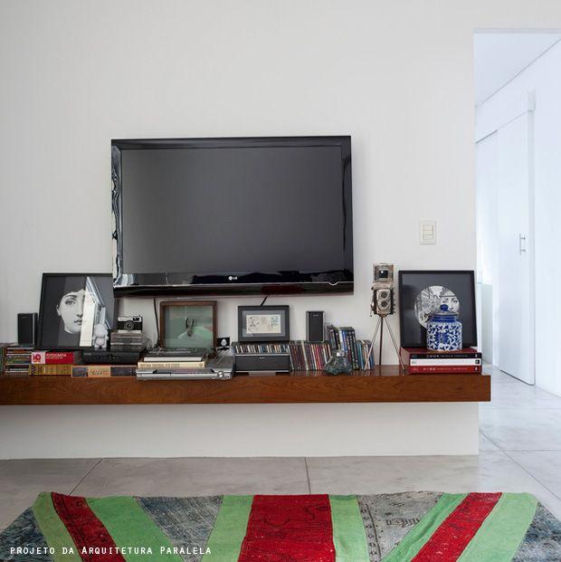 Sala Com Tv Led Na Parede ~  estar com tv na parede  Pesquisa Google  Painel TV  Pinterest  TVs