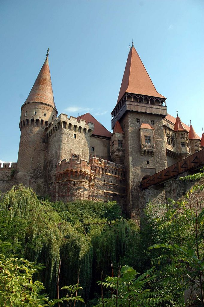 Corvin Castle, also known as Hunyadi Castle or Hunedoara Castle, is a Gothic-Renaissance castle in Hunedoara, in Romania. It is one of the largest castles in Europe and figures in a top of seven wonders of Romania.