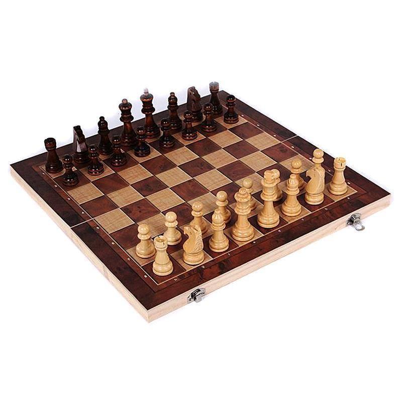 New Design 3 In 1 Wooden International Chess Set Board